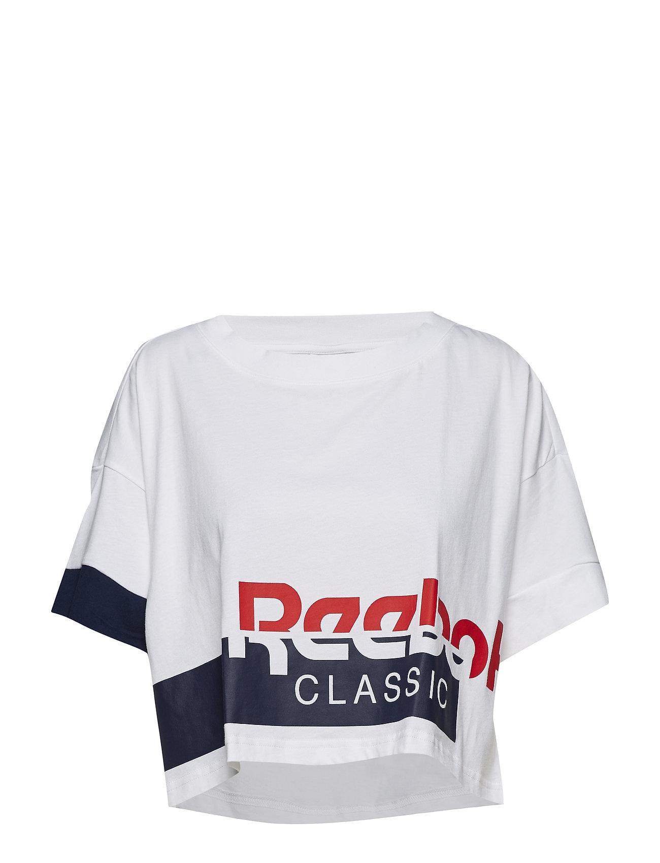 61229938560208 Ac Cropped Tee (White conavy) (209.30 kr) - Reebok Classics - T ...