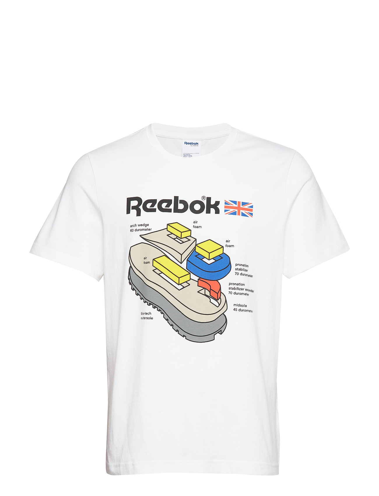 Reebok Classics CL CALLOUT GRAPHIC TEE - WHITE