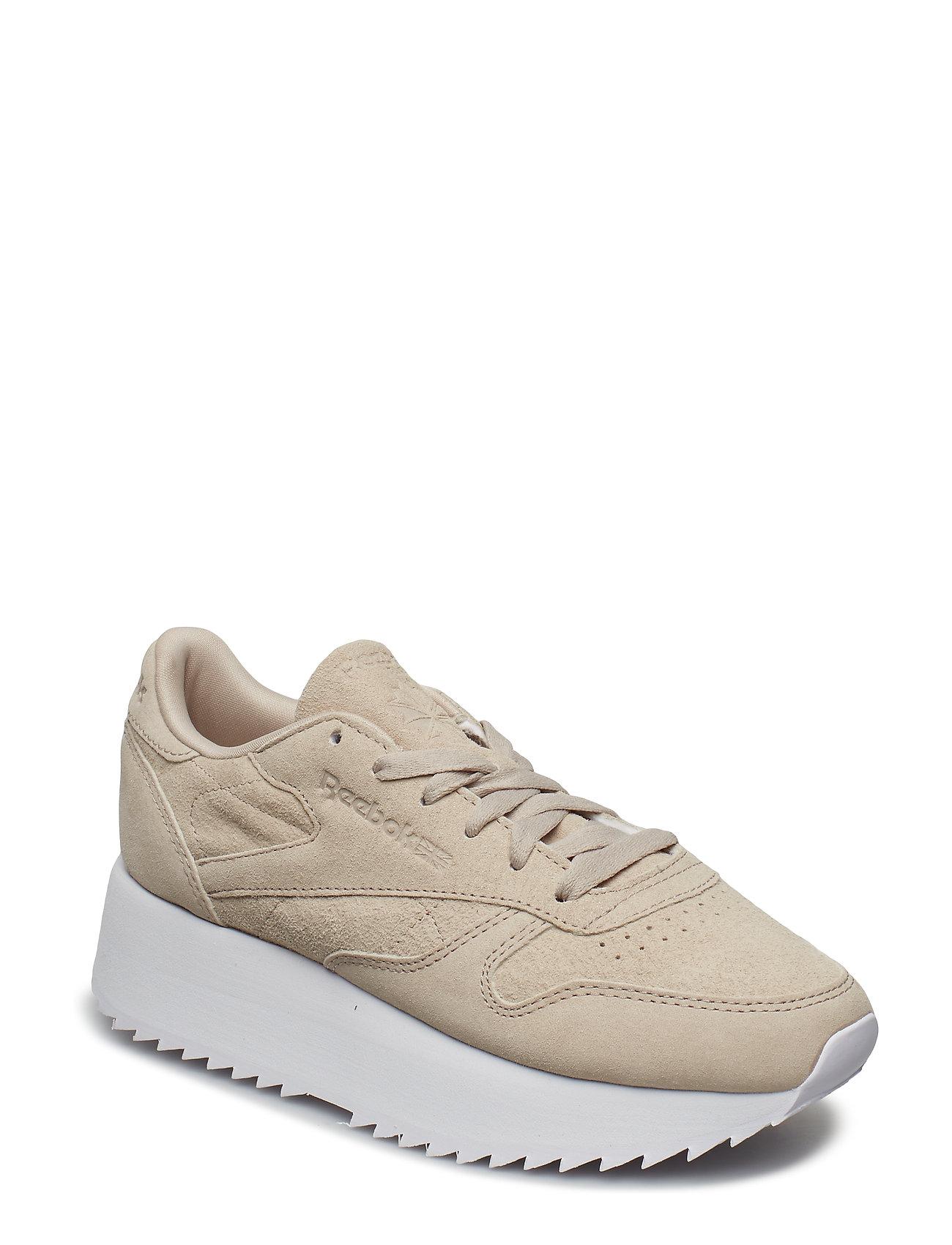 REEBOK Cl Lthr Double Niedrige Sneaker Creme REEBOK CLASSICS