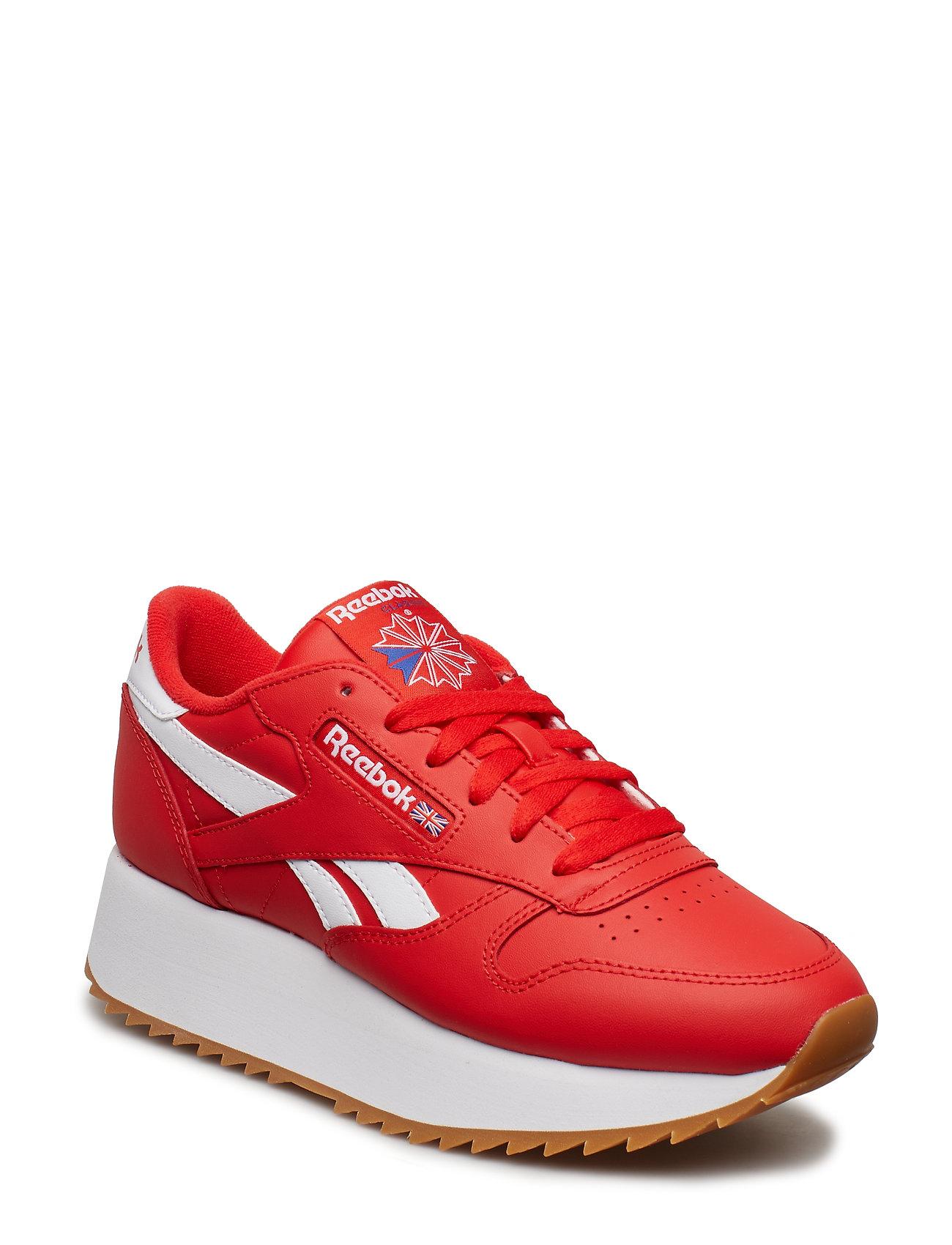 REEBOK Cl Lthr Double Niedrige Sneaker Rot REEBOK CLASSICS