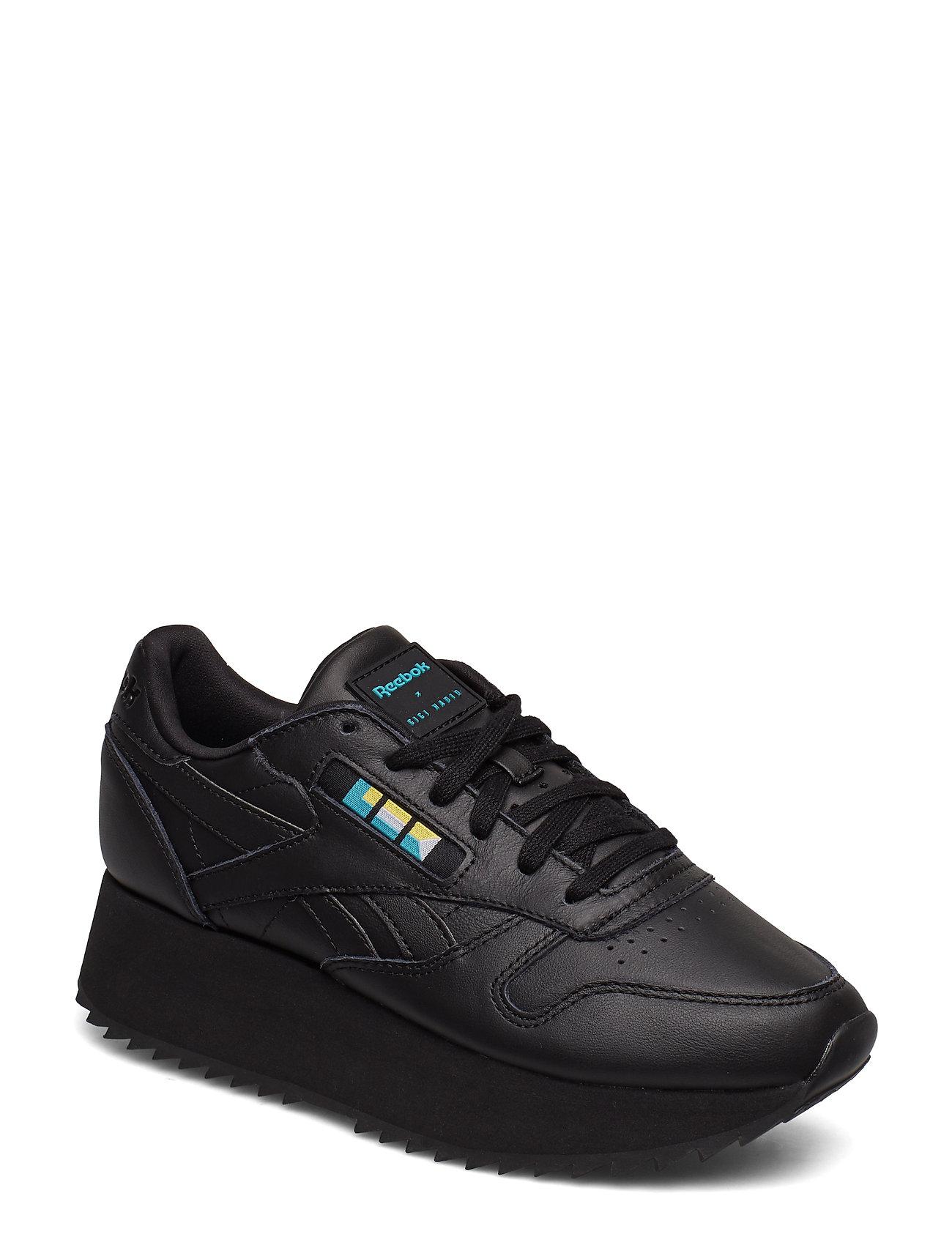 REEBOK Cl Lthr Double Niedrige Sneaker Schwarz REEBOK CLASSICS