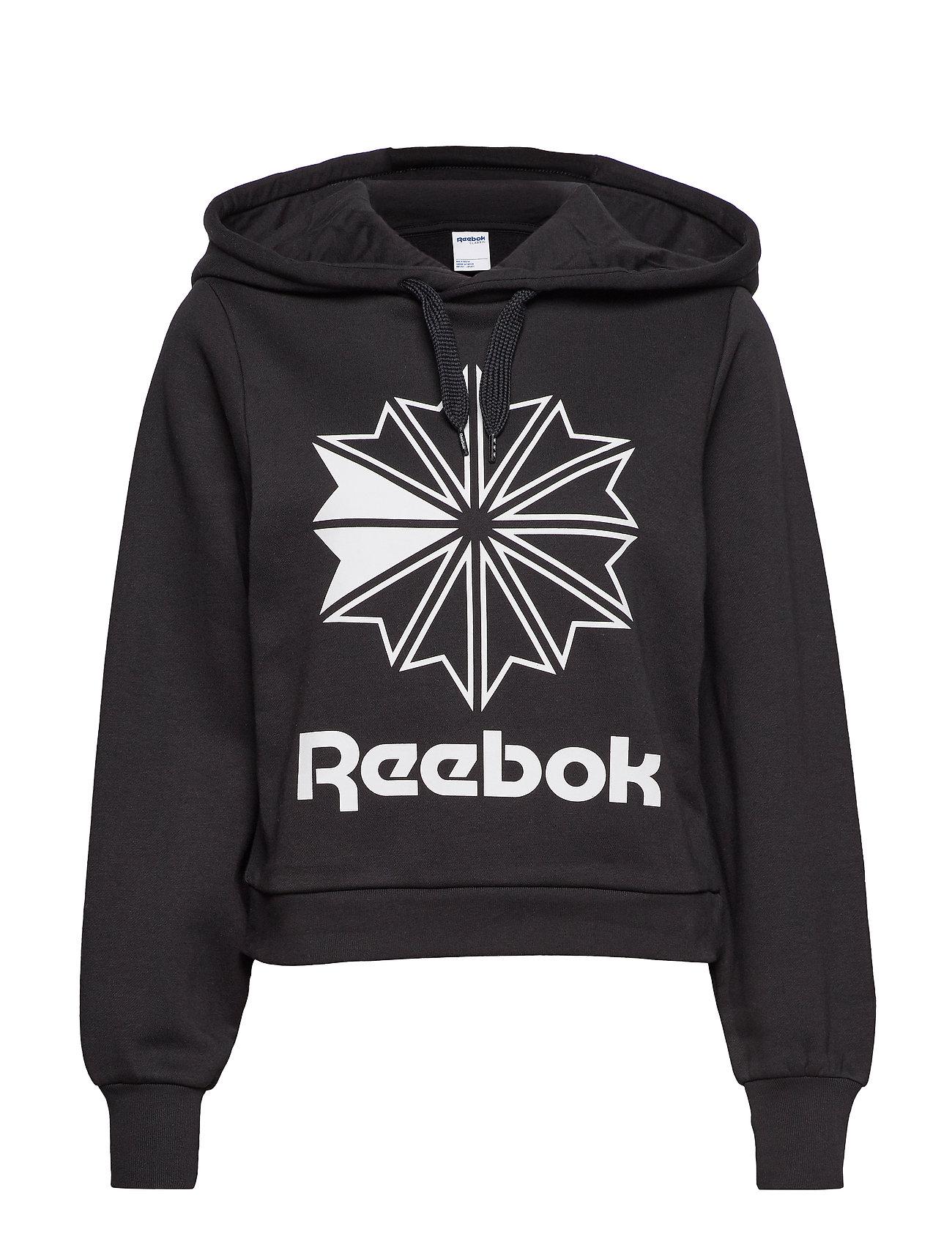 Reebok Classics CL FL BIG LOGO HOODIE - BLACK