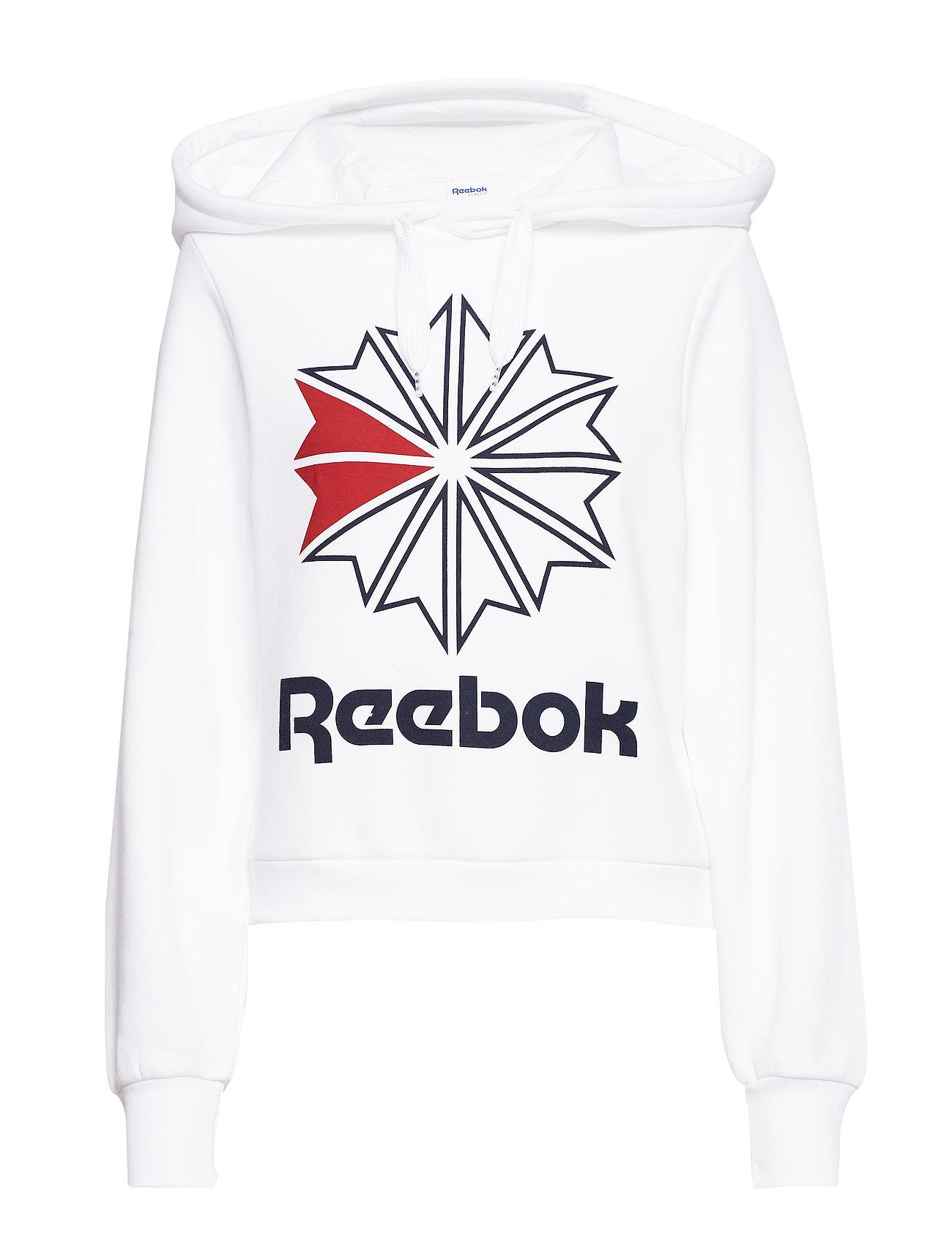 Reebok Classics CL FL BIG LOGO HOODIE - WHITE