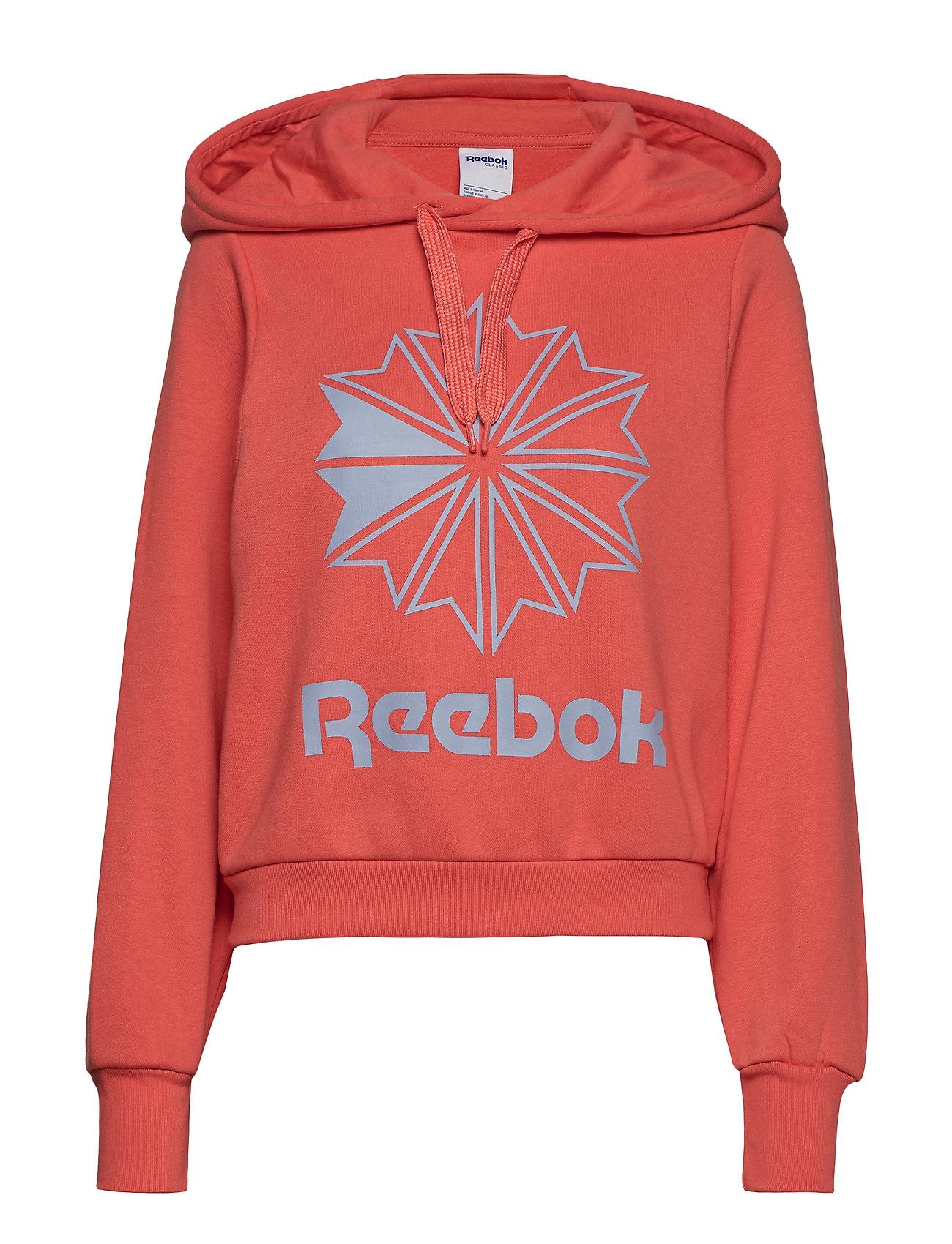 Reebok Classics CL FL BIG LOGO HOODIE - ROSETT