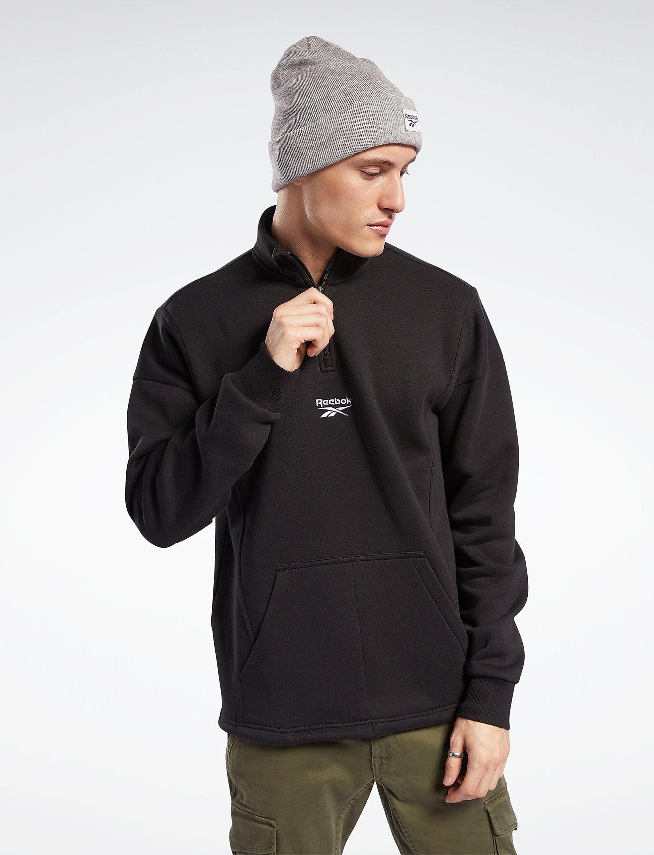 Reebok Classics - CL F HALFZIP SWEATER - basic-sweatshirts - black - 0