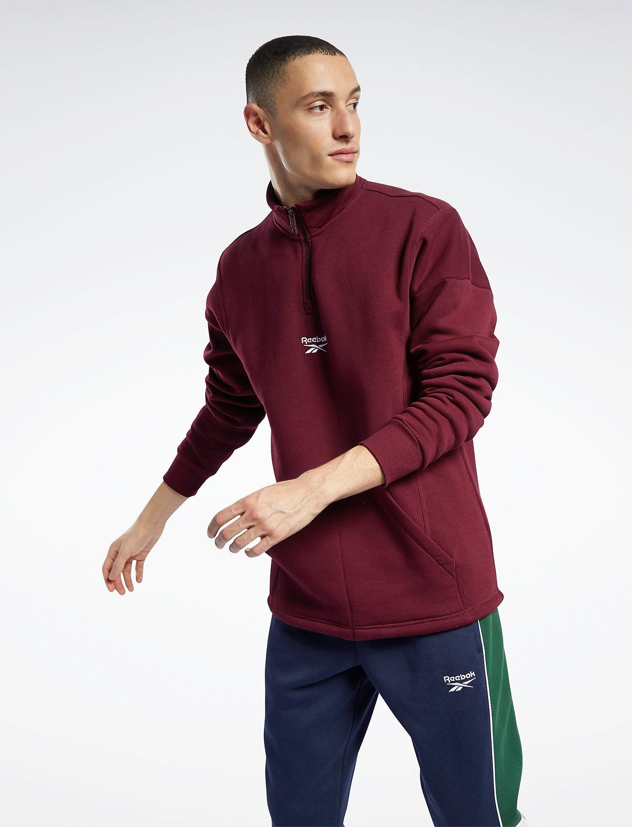 Reebok Classics - CL F HALFZIP SWEATER - basic-sweatshirts - maroon - 0