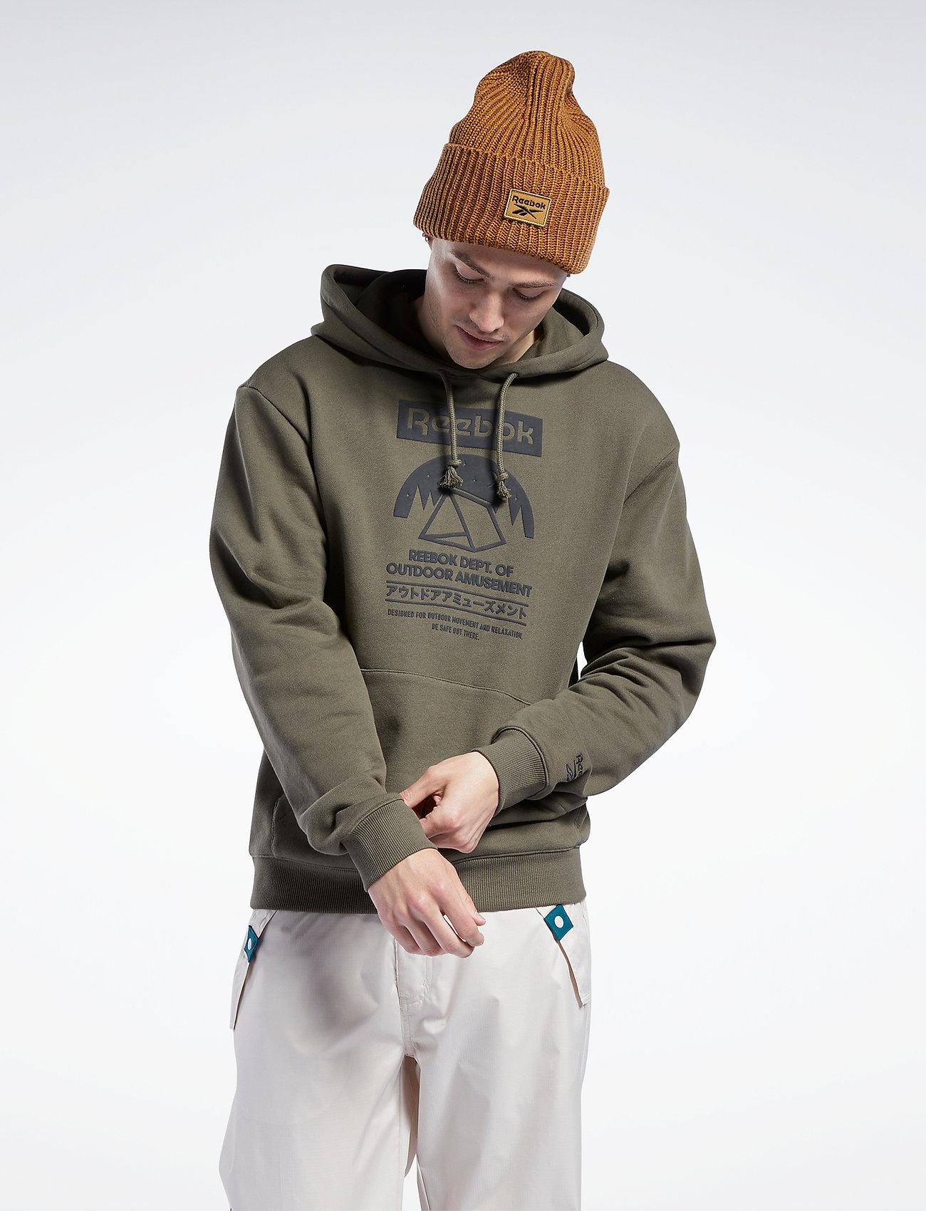 Reebok Classics - CL CAMPING GRAPHIC HOODIE - hoodies - armygr - 0