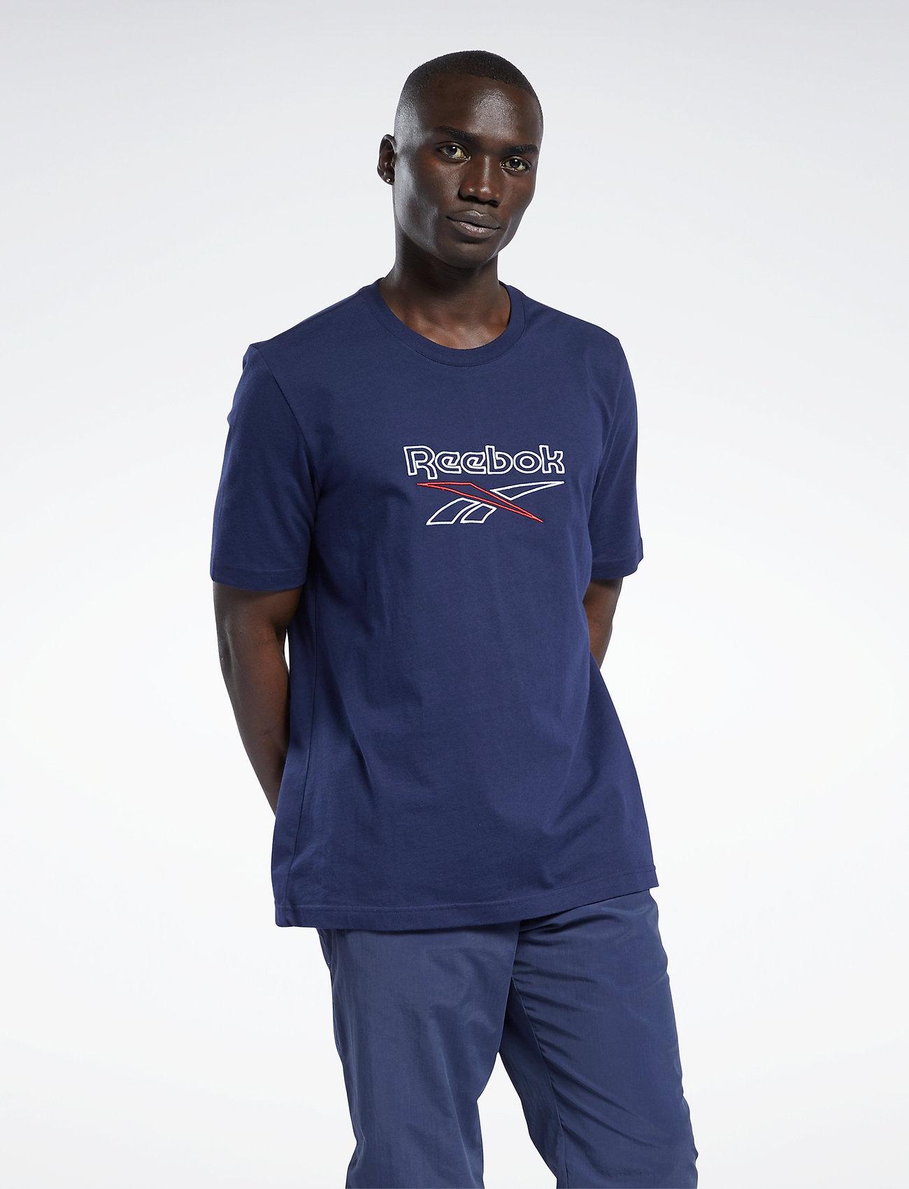 Reebok Classics - CL F VECTOR TEE - t-shirts - vecnav/white/vecred - 0