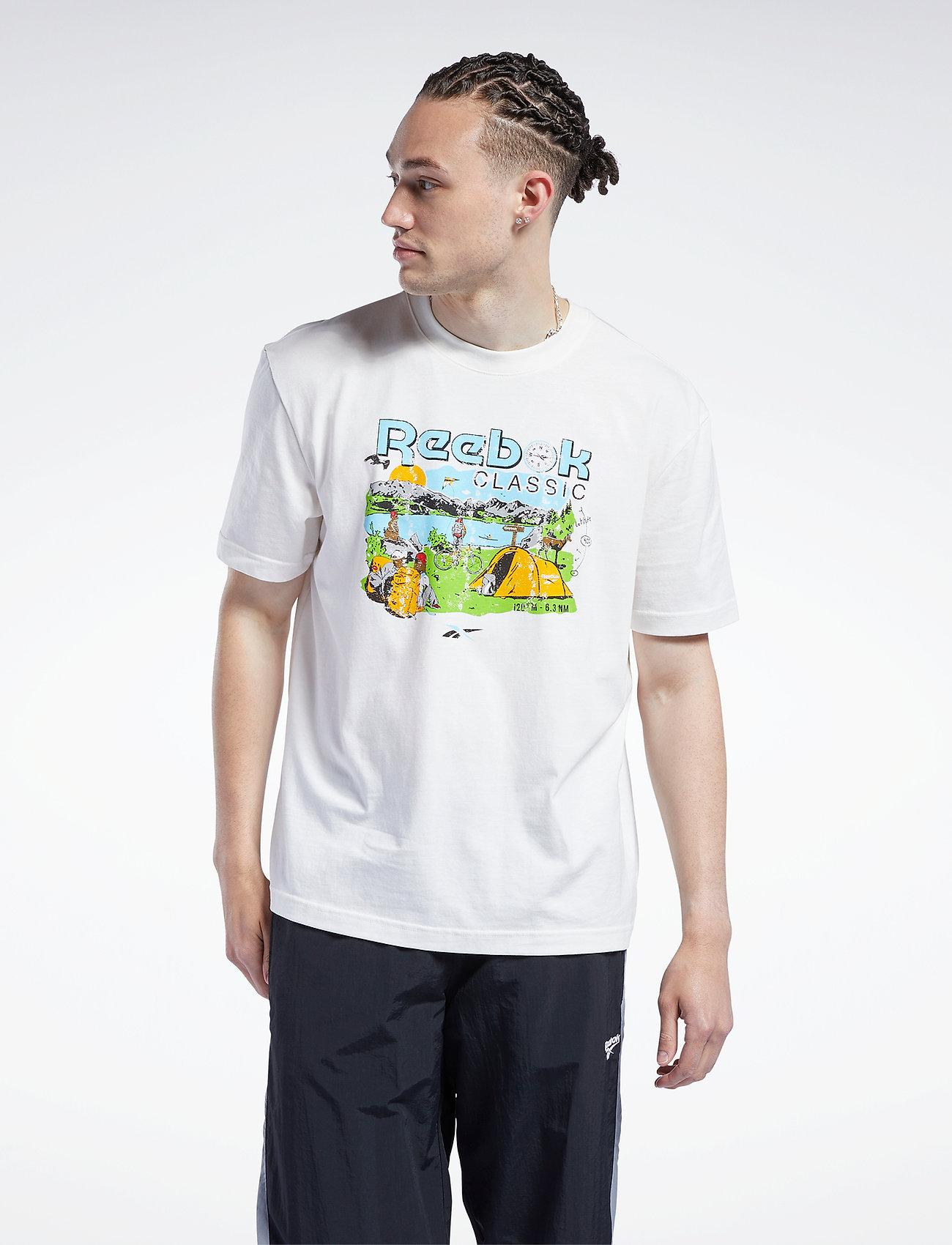 Reebok Classics - CL INTL TEE WEST - t-shirts - chalk - 0