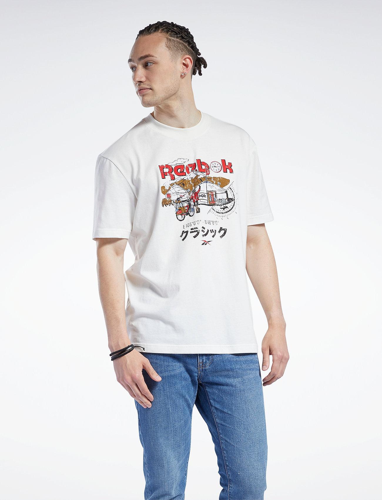 Reebok Classics - CL INTL TEE EAST - t-shirts - chalk - 0