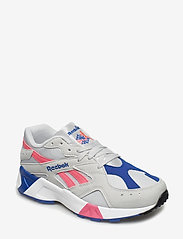 Reebok Classics - AZTREK - chunky sneakers - grey/acid pink/royal/ - 0