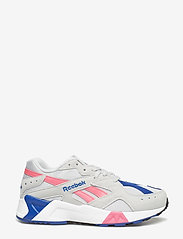 Reebok Classics - AZTREK - chunky sneakers - grey/acid pink/royal/ - 1
