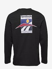 Reebok Classics - CL INTL SPORT LS TEE - langarmshirts - black - 2