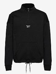Reebok Classics - CL F HALFZIP SWEATER - basic-sweatshirts - black - 1