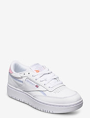 Reebok Classics - Club C Double W - sneakers - ftwwht/cdgry2/ornflr - 0