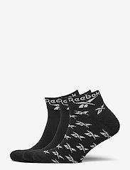 Reebok Classics - CL FO Ankle Sock 3P - kousen - black - 0