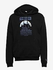 Reebok Classics - CL CAMPING GRAPHIC HOODIE - hoodies - black - 1