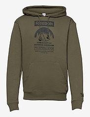 Reebok Classics - CL CAMPING GRAPHIC HOODIE - hoodies - armygr - 1
