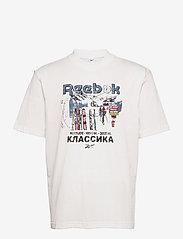 Reebok Classics - CL INTL TEE NORTH - t-shirts - chalk - 1