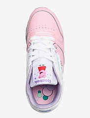 Reebok Classics - CL LEATHER - laag sneakers - ltpink/ftwwht/purglo - 3