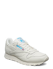 CL LEATHER MU - CHALK/PAPERWHITE/CYAN