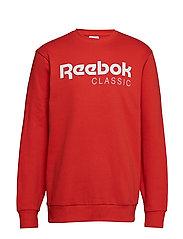Cl Sweatshirt Långärmad Tröja Röd REEBOK CLASSICS