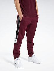 Reebok Classics - CL F LINEAR PANT - spodnie treningowe - maroon - 0