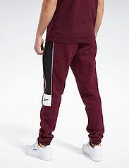 Reebok Classics - CL F LINEAR PANT - spodnie treningowe - maroon - 3