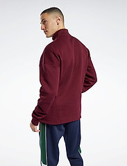 Reebok Classics - CL F HALFZIP SWEATER - basic-sweatshirts - maroon - 3