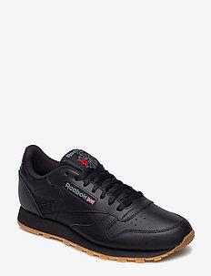 CL LTHR - tenis - black/gum