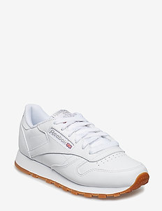 CL LTHR - chunky sneakers - white/gum