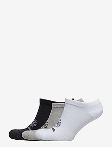 CL FO NO SHOW SOCK 3P - WHITE/MGREYH/BLACK