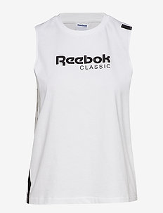 CL REEBOK TANK - WHITE/BLACK