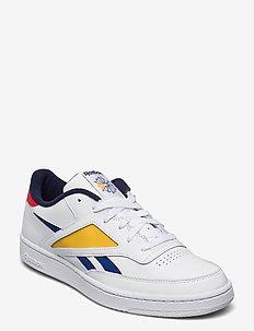 CLUB C REVENGE MARK - låga sneakers - white/radred/fiegol