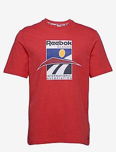 CL INTL SPORT TEE - t-shirts - radred