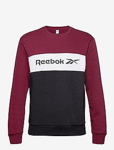 CL F LINEAR CREW - sweatshirts - maroon