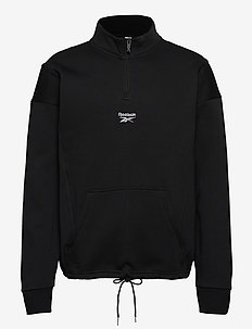 CL F HALFZIP SWEATER - basic-sweatshirts - black
