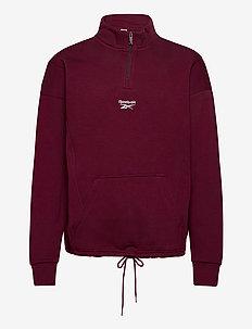 CL F HALFZIP SWEATER - basic-sweatshirts - maroon