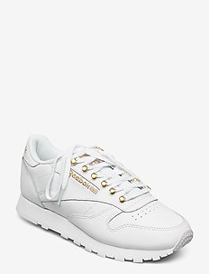 CL LTHR - lave sneakers - white/magold/white
