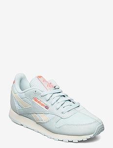 CL LTHR - lave sneakers - chablu/clawht/ornflr