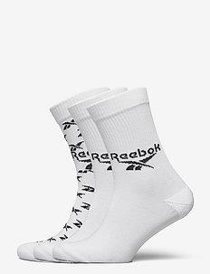CL FO Crew Sock 3P - vanliga strumpor - white