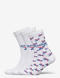 CL FO Crew Sock 3P - vanliga strumpor - white/vecblu/vecred