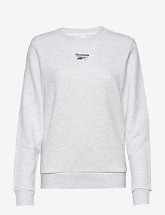 CL F SMALL LOGO CREW - sweatshirts - whtmel