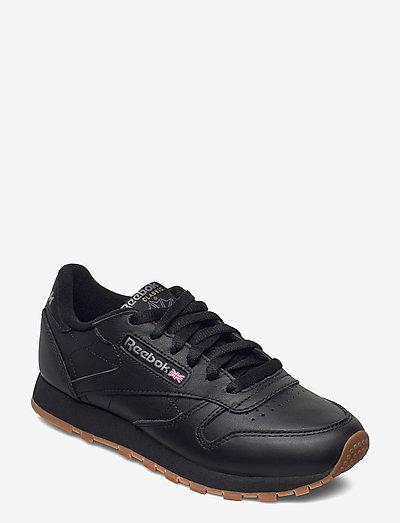 CL LTHR - chunky sneakers - black/gum