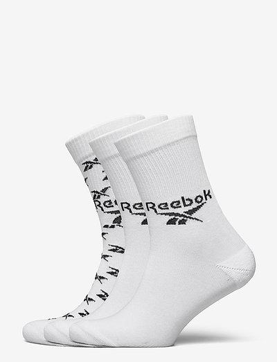 CL FO Crew Sock 3P - kousen - white