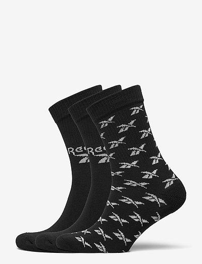 CL FO Crew Sock 3P - kousen - black