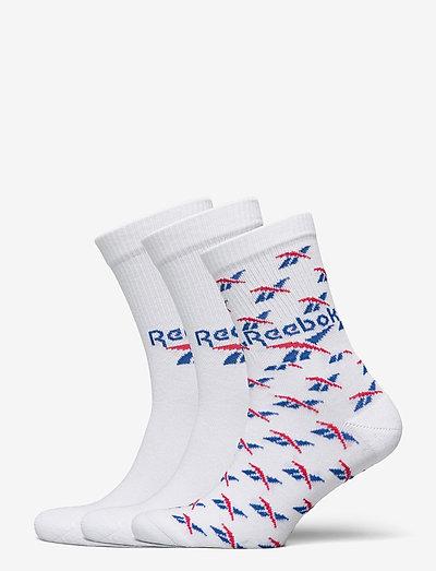 CL FO Crew Sock 3P - kousen - white/vecblu/vecred