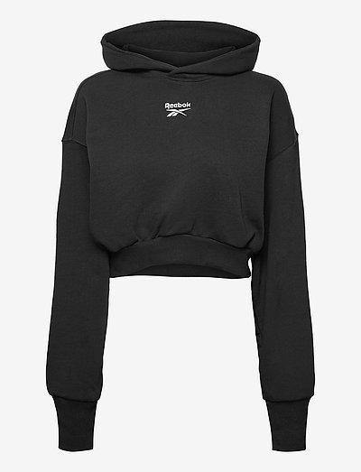 CL PF CROPPED FT HOODIE - hoodies - black
