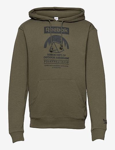 CL CAMPING GRAPHIC HOODIE - hoodies - armygr