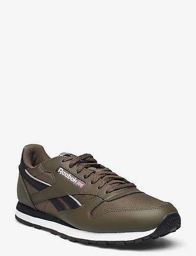 CL LTHR - laag sneakers - armygr/cblack/ftwwht